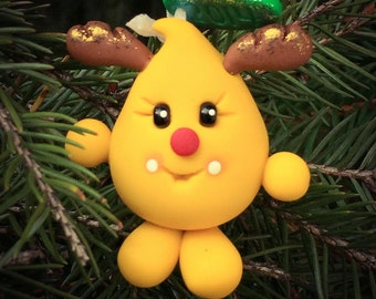 CHRISTMAS Parker REINDEER Ornament - Polymer Clay Character Tree Ornament - 2014 Edition
