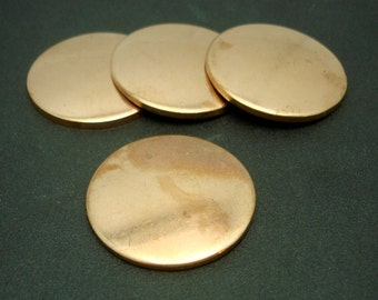 Copper Disc 12g 41mm Blank Cutout for Enameling Stamping Texturing