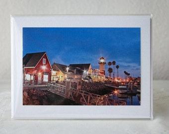 Greeting Card: Oceanside Harbor