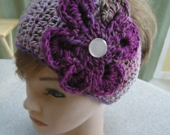 Crocheted Earwarmer - Headwrap in Multicolors