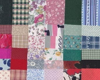 Fabric Precut 3 Inch Squares - 115 Pieces - Cotton Material 4 Charm Quilting, Scrapbooking, Miniature Projects, Variety Pack Dec - 2