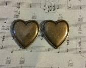 Girly Plugs Brass Heart Gauges