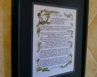 A Dogs Prayer/Calligraphy/Custom Calligraphy/11x14/Print of Original/Gift for Vet/Veterinarian/Puppy Love/Calligrapher/Dogs Life/Paper Only