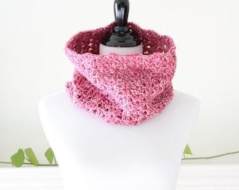 Crocheted Circle Rosemist  Neckwarmer Cowl