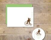 Wedding, Thank You Cards, Bikes, Wedding Thank You Cards,  Bridal Shower, Penny Farthing, Penny Farthing Bikes
