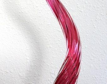 """Hand Blown Glass Art Garden Crystal Pink 27"""" Finial Garden Sculpture Oneil 5051"""