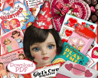 PATSY VALENTINES PDF for 10 to 13 inch Dolls 28 pages Vintage Fun Stuff to make Ann Estelle Patsy Effner Little Darlings Craft Print Out