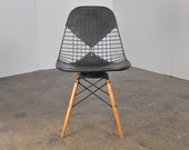 Early Eames PKW Wire Chair with Swivel Dowel Base