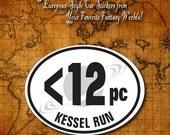 All New Kessel Run Euro-Style Oval Car Sticker