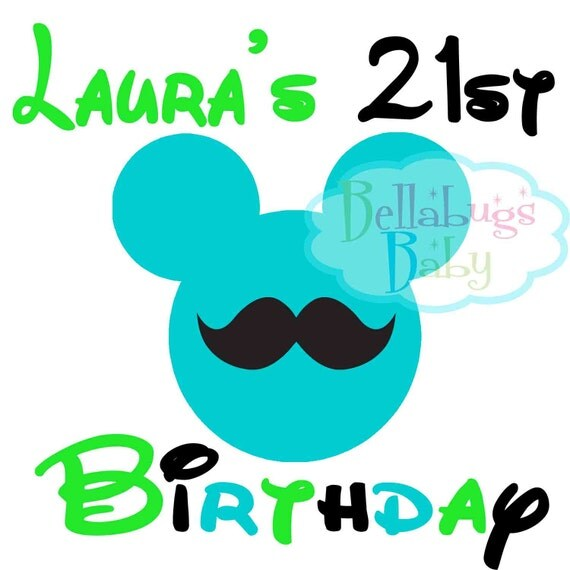 Items Similar To Birthday Disney Trip 21st Birthday