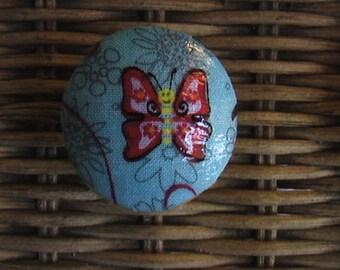 Handmade Knobs Drawer Pull Butterflies Dresser Knob Pulls
