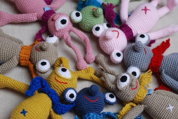 Blue Sid Amigurumi Crochet Monster Creature Toy Animal Baby
