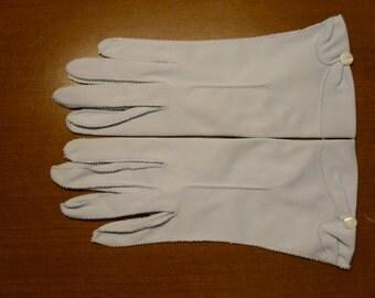 Vintage Stetson Blue Nylon Gloves  Size 6 1/2  Deadstock