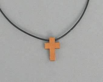 Wood Cross Necklaces 3 shades of wood