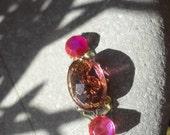 Raspberry Wine bindi, re-useable festival/ belly dance body jewellery, tikka.