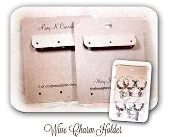 Wine Glass Charm Holder,  Stitch Marker Holder, Custome Wine Charm Display