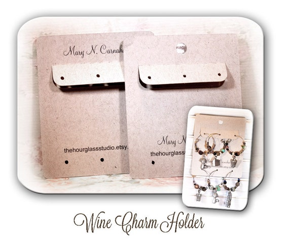 wine glass charm holder stitch marker holder custome wine