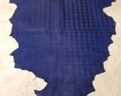LB190.   Blue Embossed Swirl Lambskins