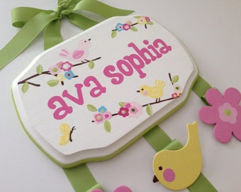 Hand Painted and Personalized Hair Bow Holder - 7x9