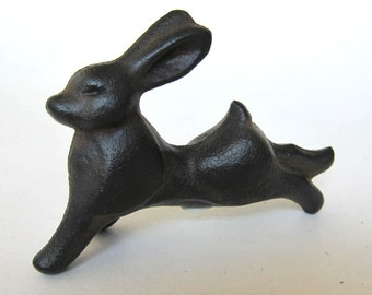 Vintage Japanese  Iron Leaping Rabbit