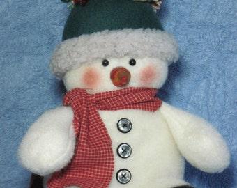 """Snowman pattern:  """"Tuckered Snowman"""" - #649"""