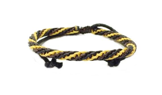 Adjustable Multi Colour Mens Cotton Braided Cord Thai Buddhist Wristband Bracelet Wristwear