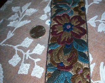 1 Art deco period hand loom applique