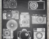 Chalkboard Cameras, Camera clipart, Chalkboard background, Photography clipart, Instant download