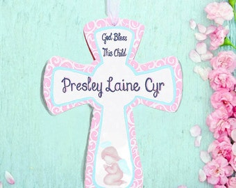 Nursery Cross Personalized Hand Painted