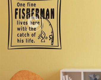 Fishing Wall Decal Etsy