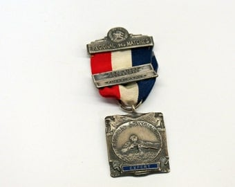 NRA 1949 Regional Matches Expert Shooting Medal Sterling Silver