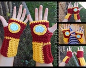 Crochet Iron Man Gloves