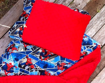 Nap Mat cover with attached Minky Blanket & Ruffle Pillow Case for the Kindermat Daydreamer