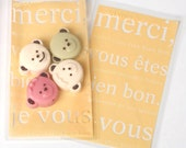 30 Merci Cellophane Bags - Apricot (3.5 x 5.9in)