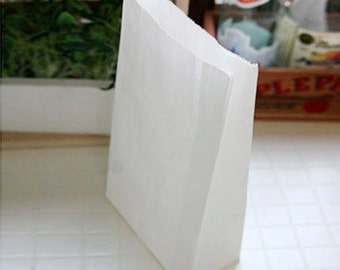 30 Basic White Paper Bags - S size (4.7 x 8.7in)