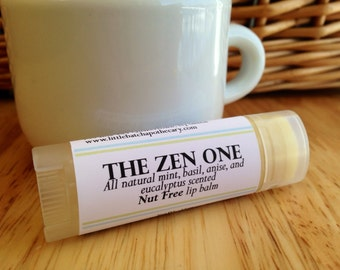 The Zen One lip balm, lip butter, nut free, all natural, herbal