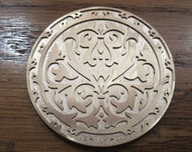 Historic Emblem Brass leather craft & Book binding stamp finishing tool Embossing Die