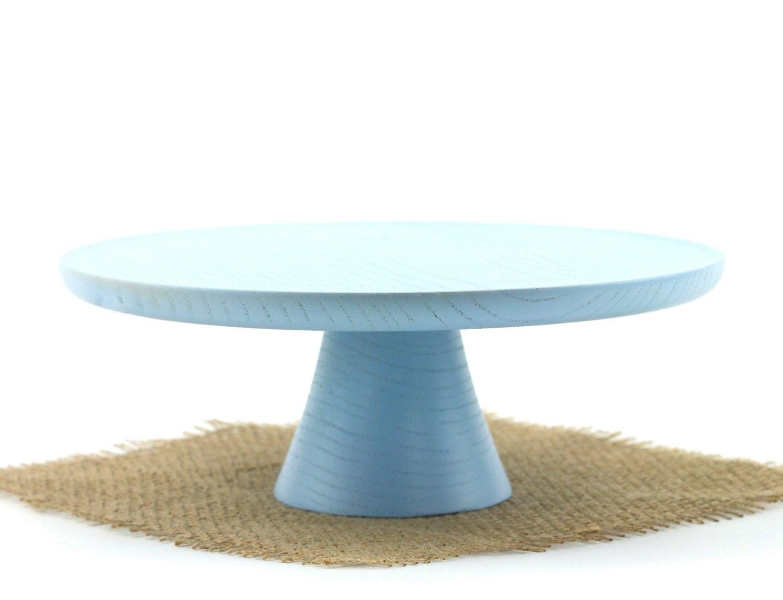 Wooden Blue Cake Stand Pedestal Cake Plate Smash Cake Stand  sc 1 st  Castrophotos & Blue Cake Plate - Castrophotos