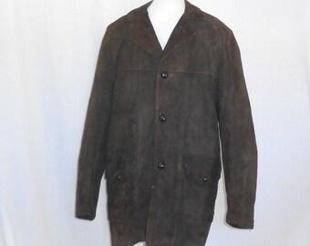 Vintage Suede Jacket Brown Suede Coat Brown Suede Jacket Mens Coat Mens Vintage Coat Mens Vintage Jacket Mens Vintage Clothing