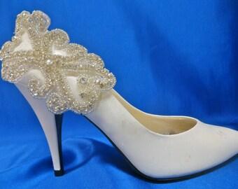 Bridal Shoe Clips, Wedding Bridal Shoes, Crystal Shoe Clips, Wedding Shoe Clips