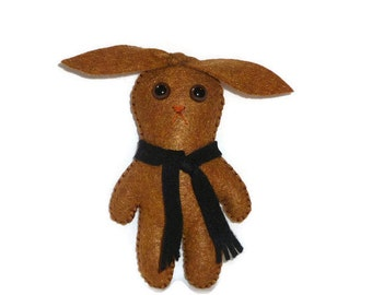 Cute bunny stocking stuffer stuffed animal felt toy gift