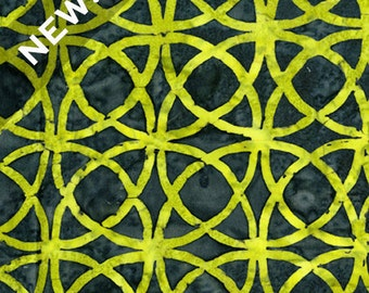 Boutiques from Lonni Rossi for Andover - Green Celtic Design Batik Quilting Fabric