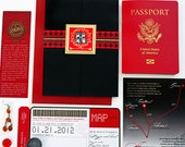 The Mayra Passport and Boarding Pass Style Invitation