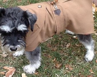 Small Dog British Trench Coat, Dog Rain Coat, Dog Raincoat, Dog Jacket, Dog Coat, Dog Jackets