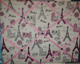Paris Eiffel Tower sparkle french memo board, 16 x 20