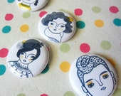 Dapper Femmes, Pins or Magnets, cactus, succlents, whimsical