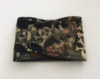 Dog Diaper - Male Dog Belly Band - Camo Skulls - Available in all Sizes