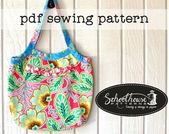 The Secretary - A shoulder bag purse pdf sewing pattern in 3 sizes -  PDF INSTANT DOWNLOAD