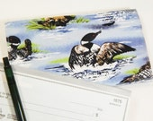 Loons Checkbook Cover, Womens Checkbook, Coupon Organizer, Loon Duplicate Checkbook, Made in USA