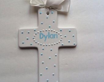 Personalized Wall Hanging Cross- Newborn, Christening,Baptism, Communion , Confirmation Gift